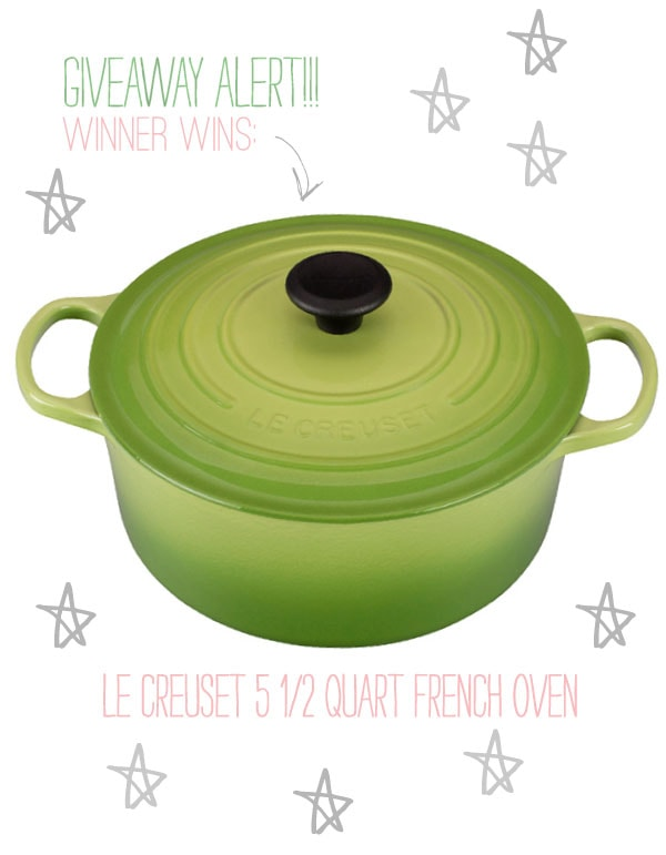 Le Creuset Giveaway // www.acozykitchen.com