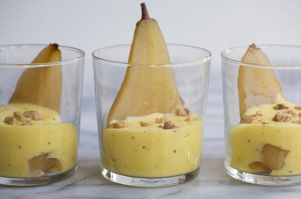 Poached Pear with Black Pepper and Lemon Sabayon // www.acozykitchen.com