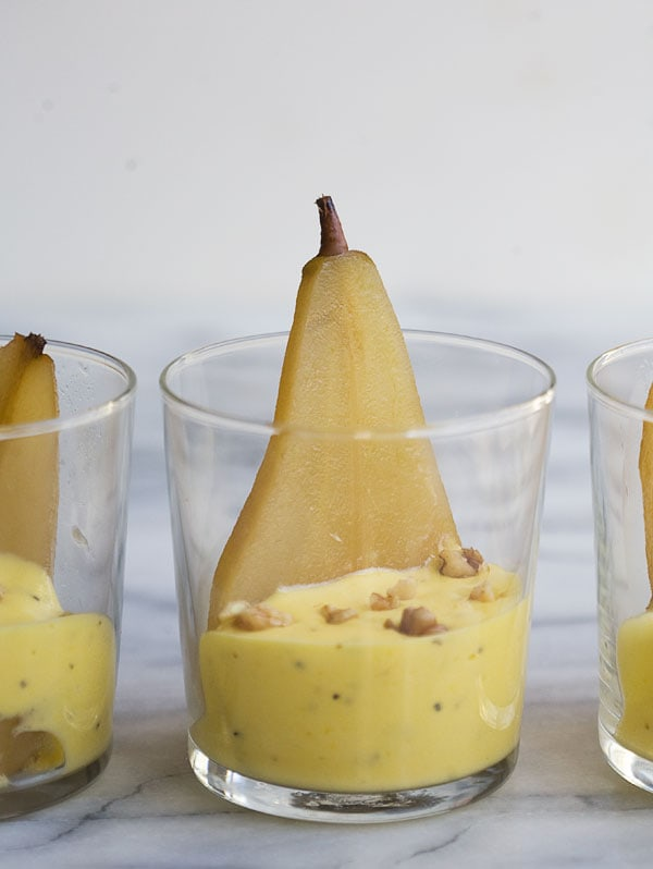 Poached Pears with Black Pepper and Lemon Sabyanon // www.acozykitchen.com