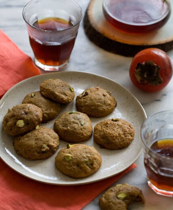 Persimmon Pistachio Cookies A Cozy Kitchen