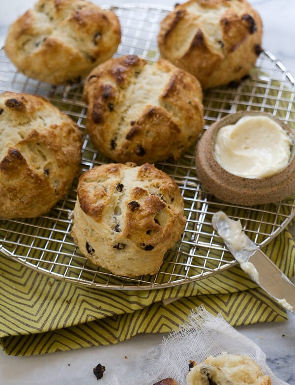 Irish Soda Bread Scones with Salty Whiskey Butter // www.acozykitchen.com