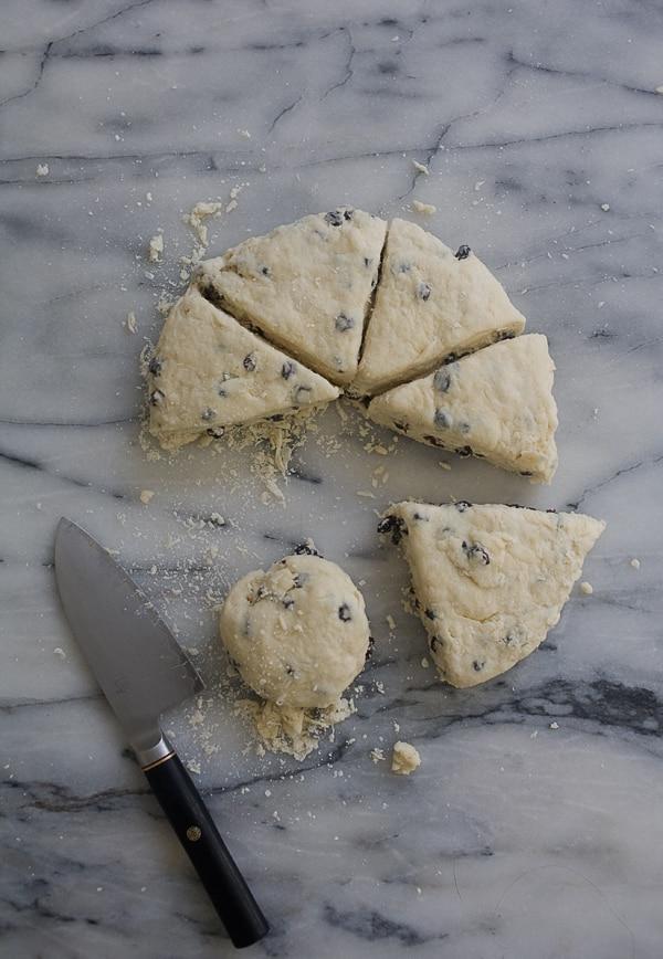 Irish Soda Bread Scones with Salty Whiskey Butter // www.acozykitchen.com