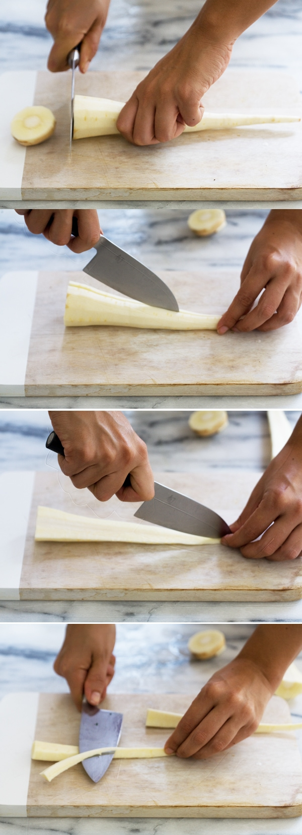 How to Cut a Parsnip // www.acozykitchen.com