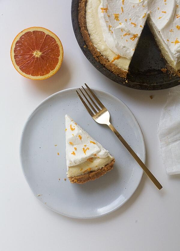 Creamsicle Chiffon Pie // www.acozykitchen.com