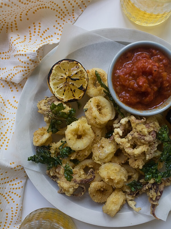 Fried Calamari with Quick Marinara | www.acozykitchen.com