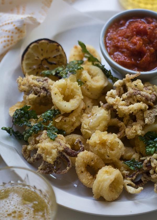 Fried Calamari with Quick Marinara | www.acozykitchen.com