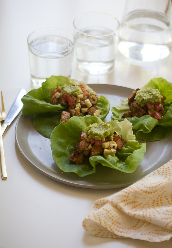 Spicy Chicken Lettuce Cups // www.acozykitchen.com