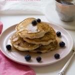 Vegan Almond Blueberry Pancakes | www.acozykitchen.com