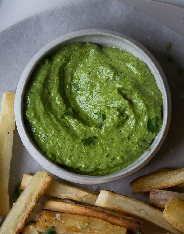 Yucca Fries with Peruvian Aji | www.acozykitchen.com