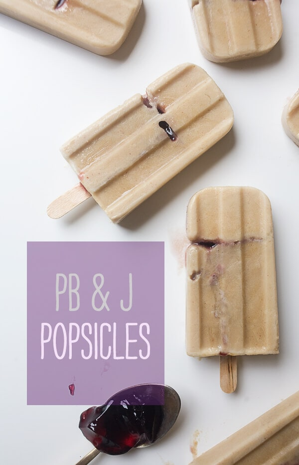 PB & J Popsicles // www.acozykitchen.com