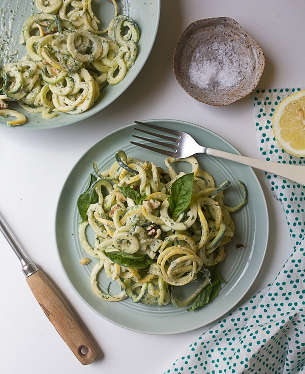 Summer Squash Pasta with Green Goddess Dressing