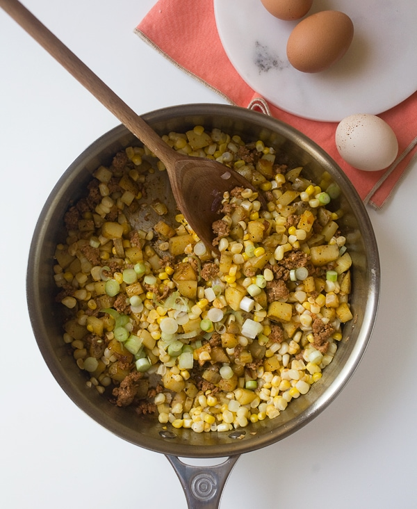 Corn Chorizo Hash / www.acozykitchen.com