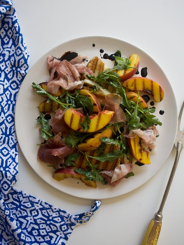 Grilled Peach and Haloumi Salad // www.acozykitchen.com