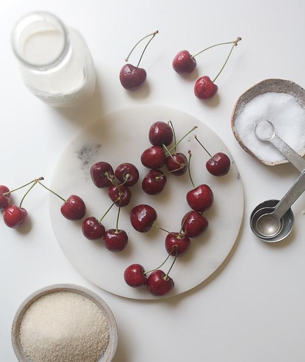 Cherry Ice Cream with Whole Wheat Crisp | www.acozykitchen.com