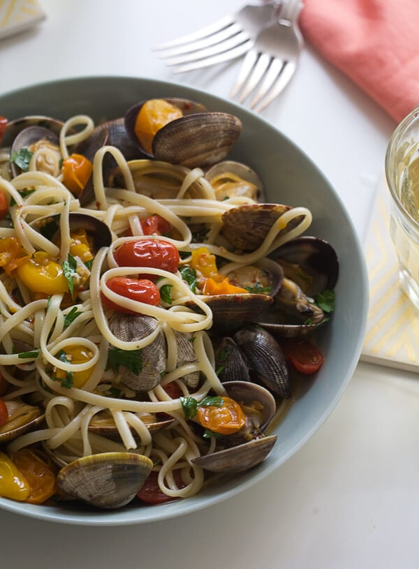 Linguine with Clams | www.acozykitchen.com
