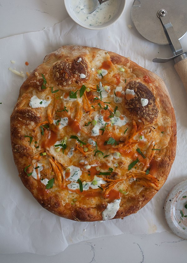 Buffalo Chicken Pizza | www.acozykitchen.com