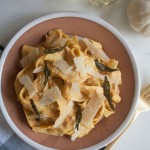 Pumpkin Sage Alfredo Pappardelle with Brown Butter | www.acozykitchen.com