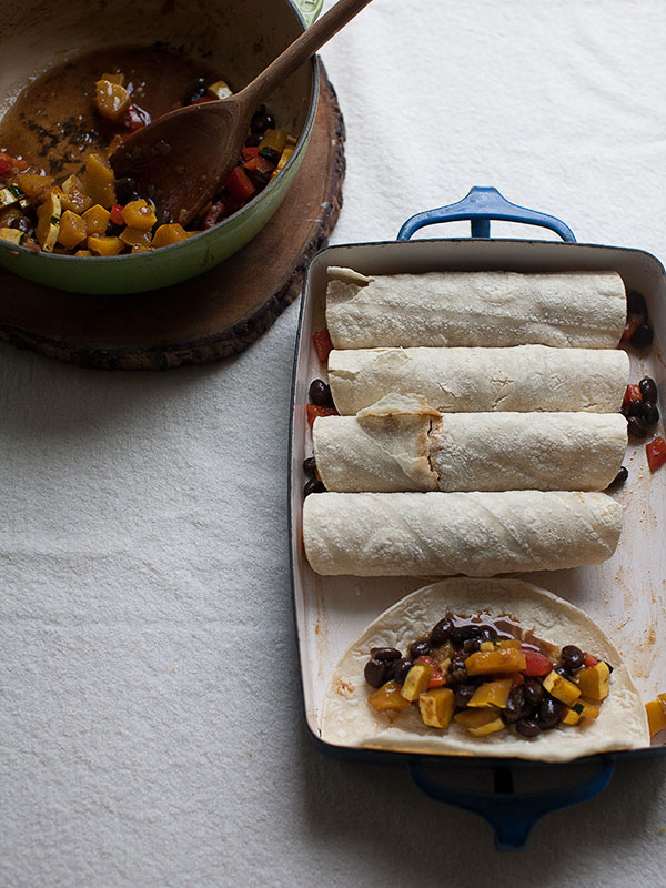 Delicata Squash and Black Bean Enchiladas | www.acozykitchen.com