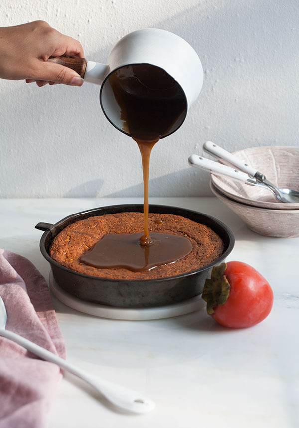 Sticky Salty Toffee Persimmon Pudding | www.acozykitchen.com