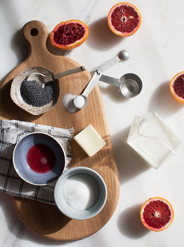 Blood Orange Poppy Seed Scones // www.acozykitchen.com