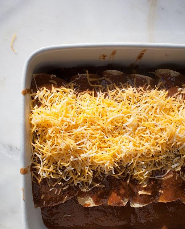 Enfrijoladas w/ Zucchini and Corn // www.acozykitchen.com