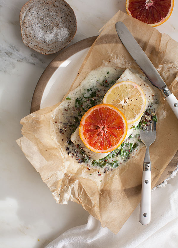 Halibut in a papillote // www.acozykitchen.com