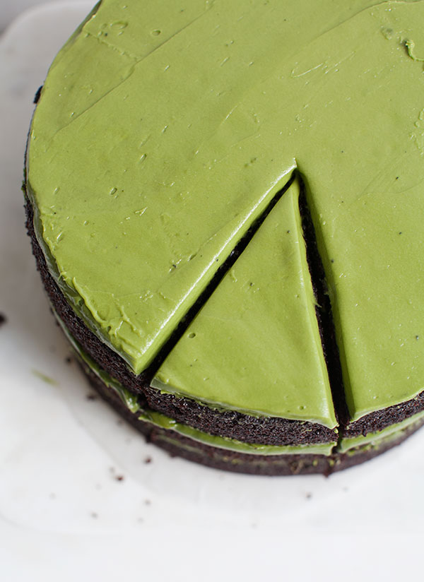 Triple Layer Chocolate Matcha Cake A Cozy Kitchen