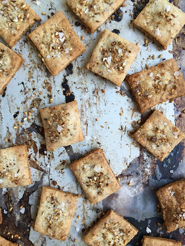 Dukkah Goat Cheese Crackers | www.acozykitchen.com