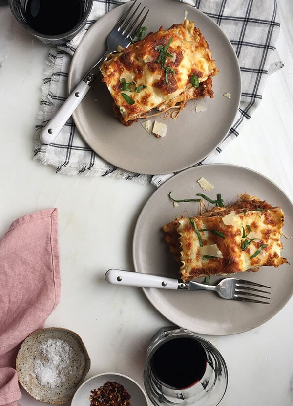 Lasagna for Two // www.acozykitchen.com