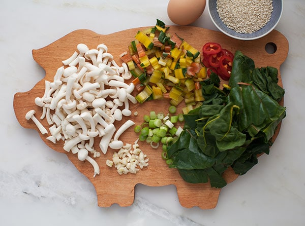 Healthy Dinner For One: Enoki + Chard Mushroom Stir-Fry | www.acozykitchen.com