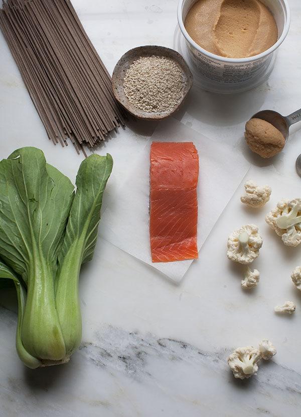 Crispy Salmon Soba Noodle Bowl