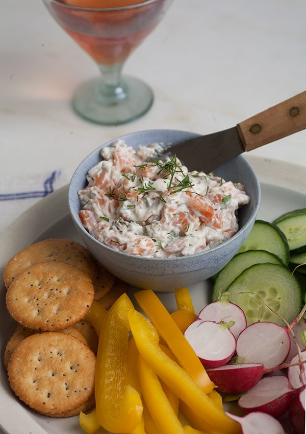 Cr me fra che smoked salmon dip a cozy kitchen for Smoked fish dip shark tank