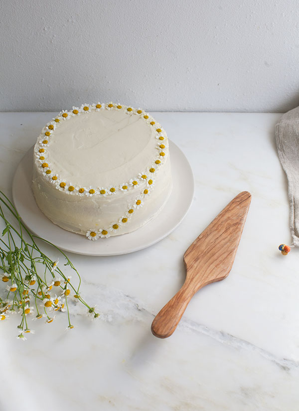 Chamomile Cake with Honey Frosting – A Cozy Kitchen