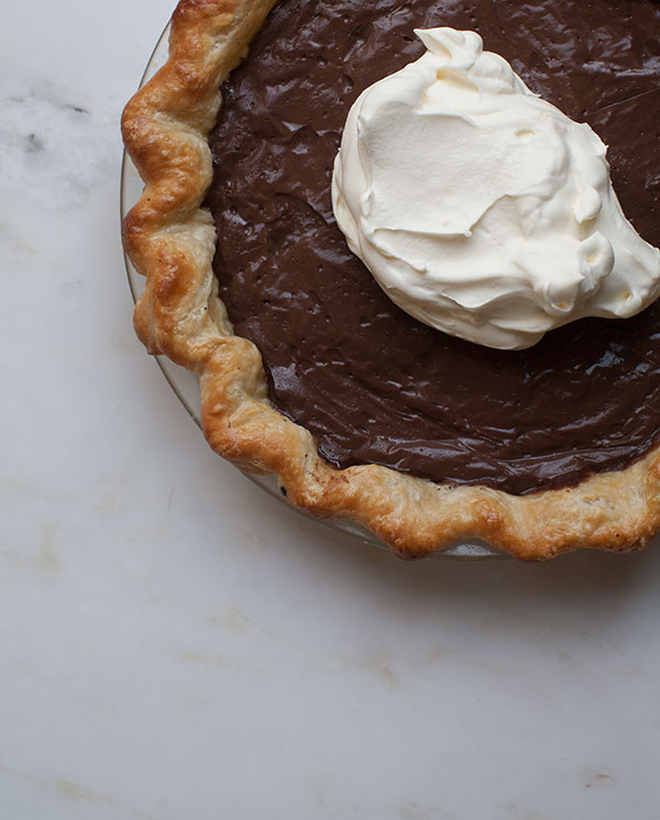 Green Chile Chocolate Pudding Pie