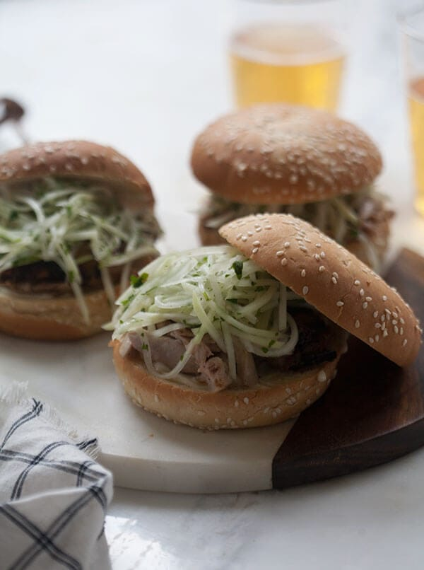 Jerk Chicken Sandwich with Jicama Slaw