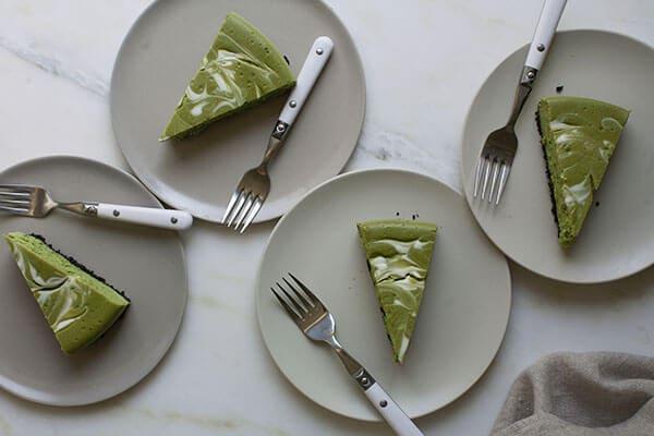 Matcha Swirl Cheesecake