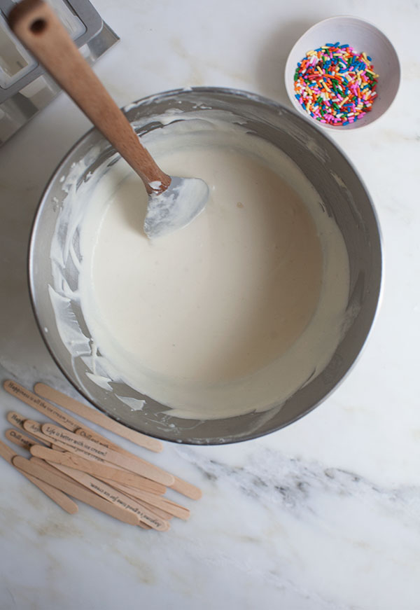 Funfetti Cake Batter Popsicles