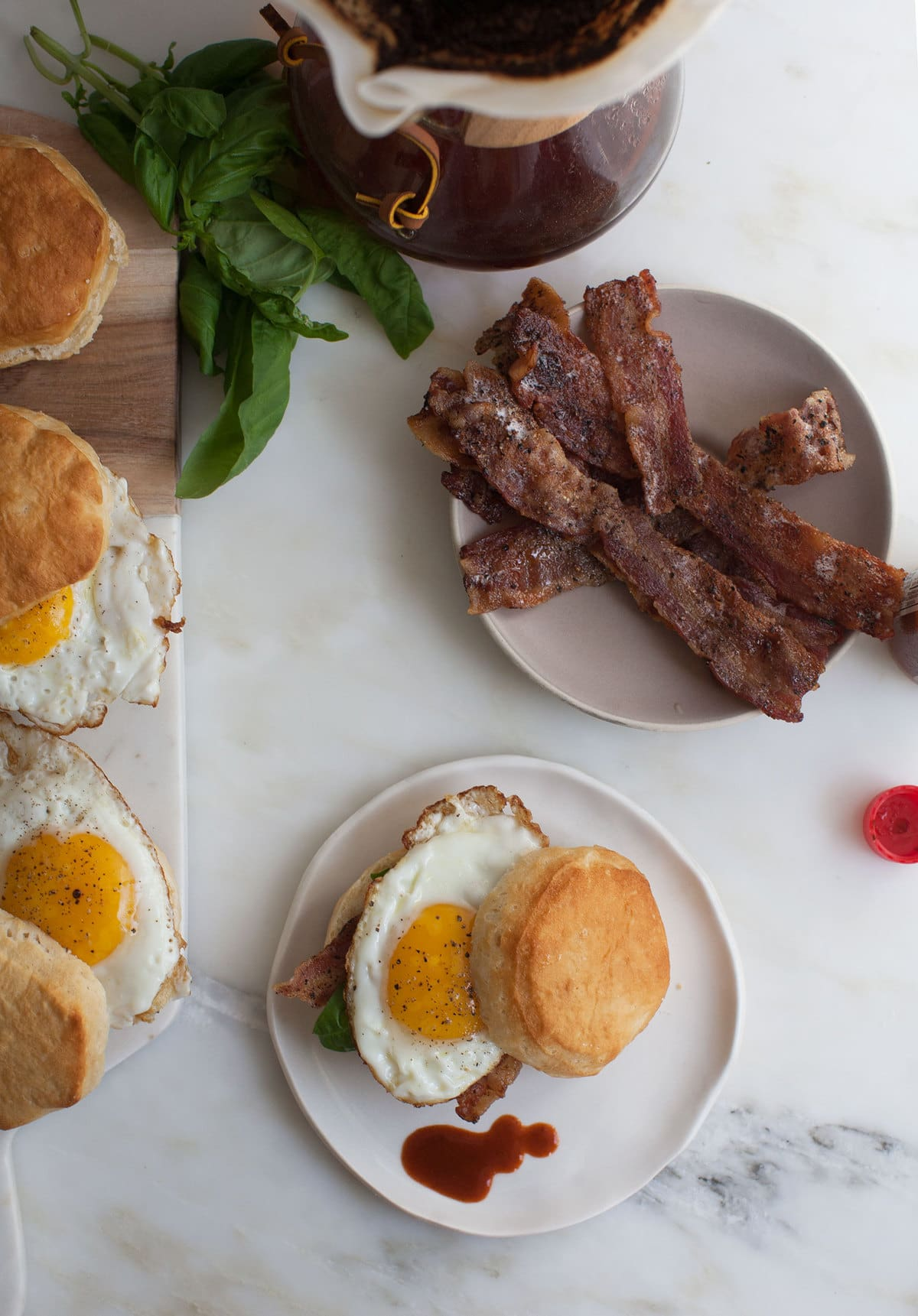 Biscuit Sandwiches with Maple Black Pepper Bacon