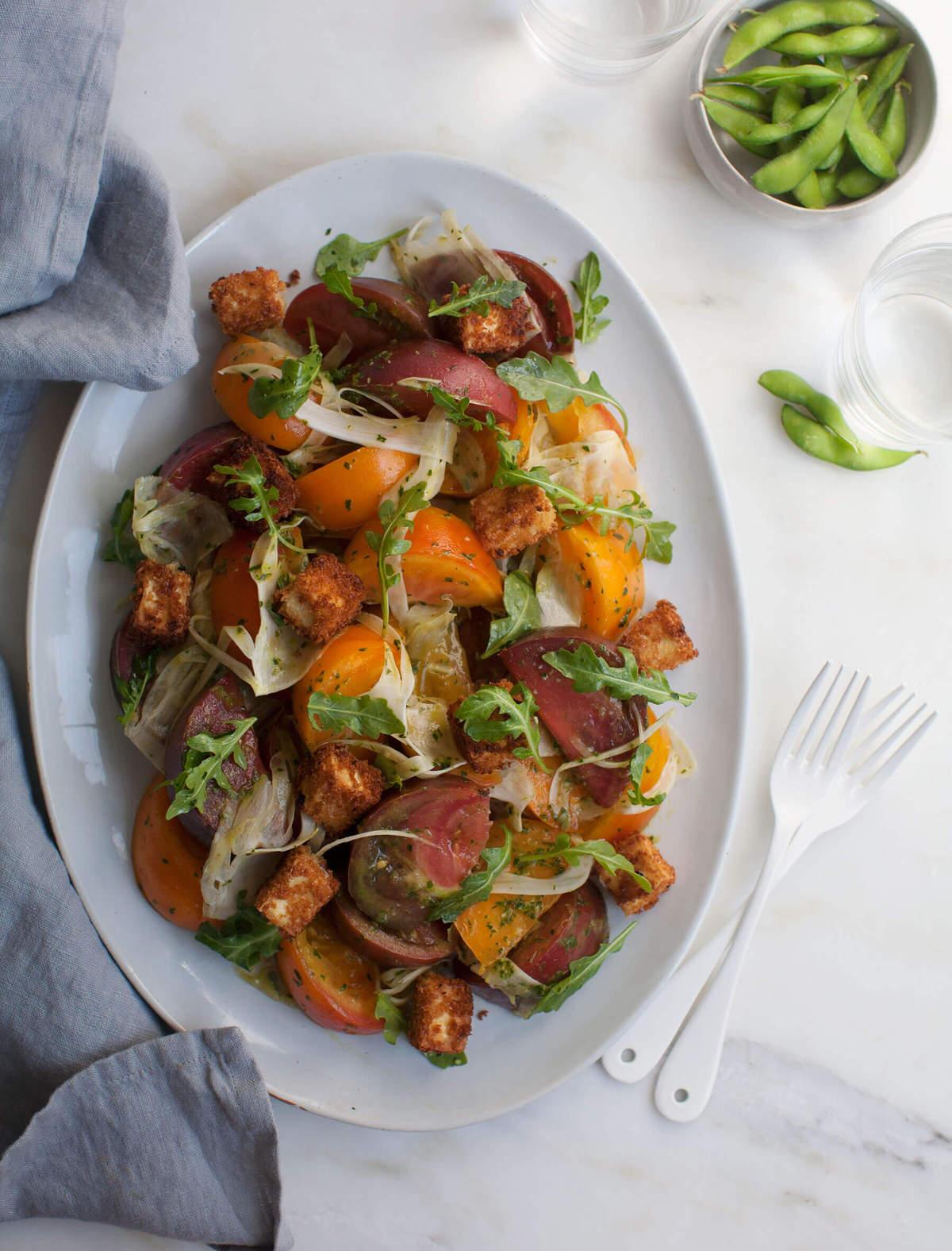 Tofu Panzanella Salad