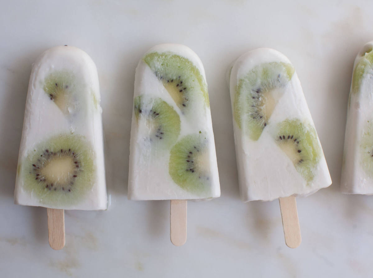 Kiwi Coconut Milk Popsicles