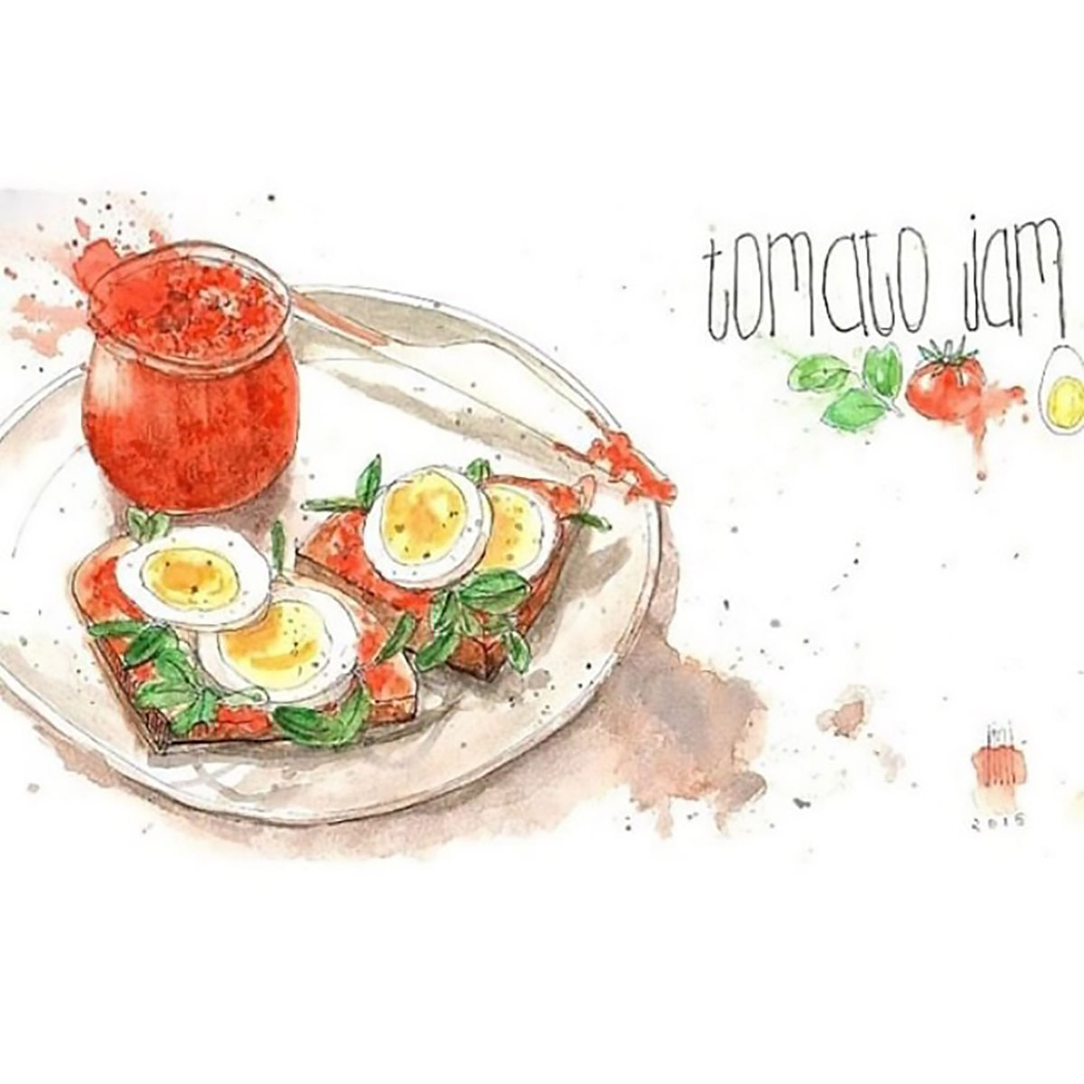 Tomato Jam Illustration