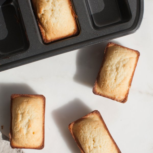 Mini Vanilla Pound Cakes With Labneh Frosting And Roasted
