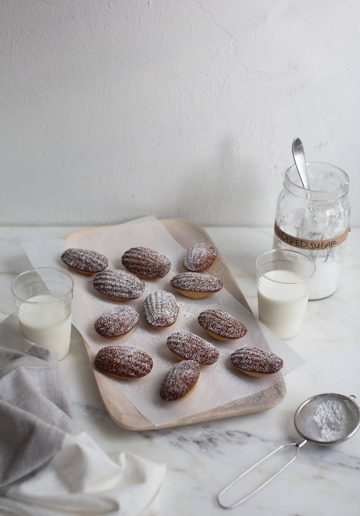 Brown Butter Orange Madeleines