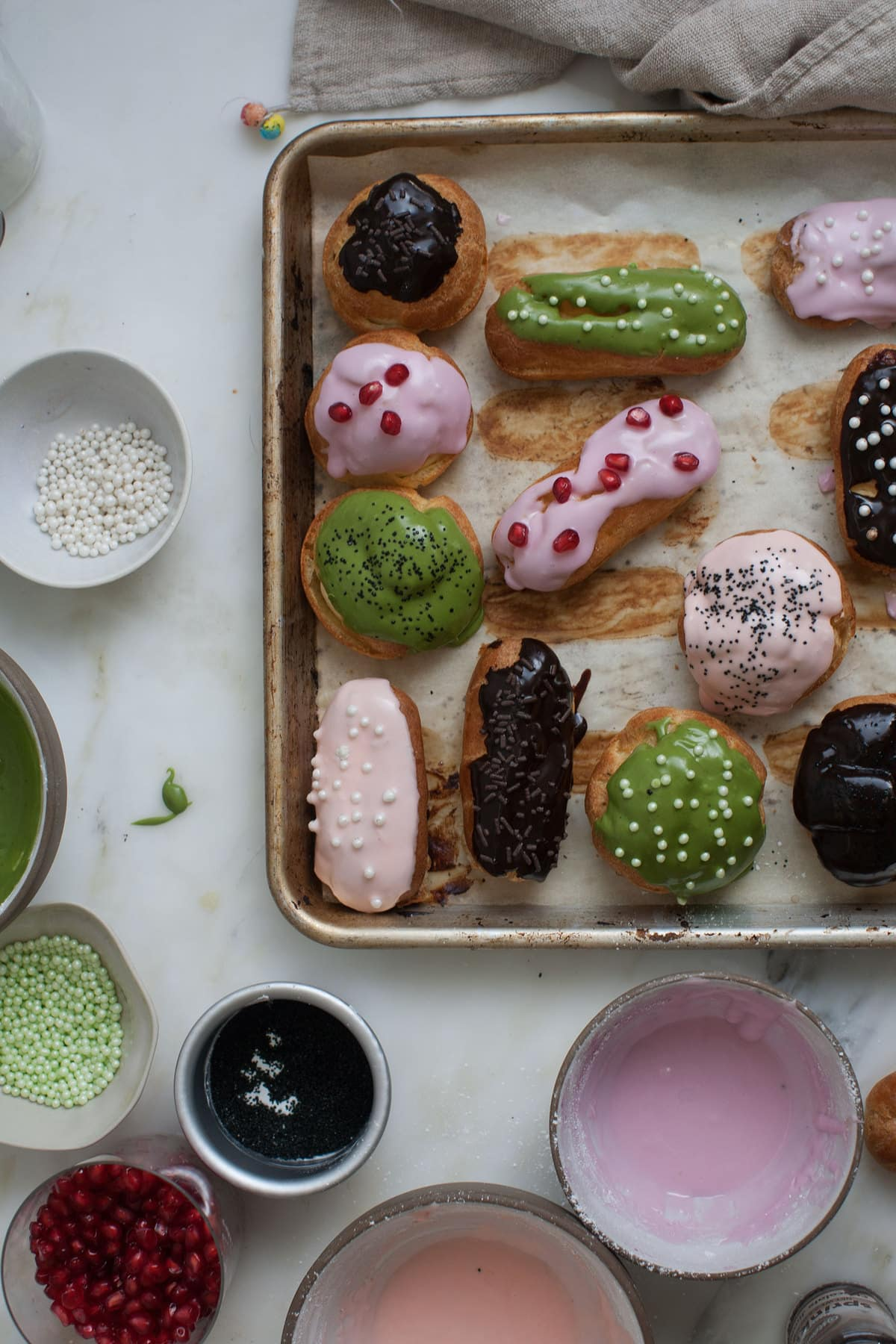 Eclairs, With All Sorts of Glazes