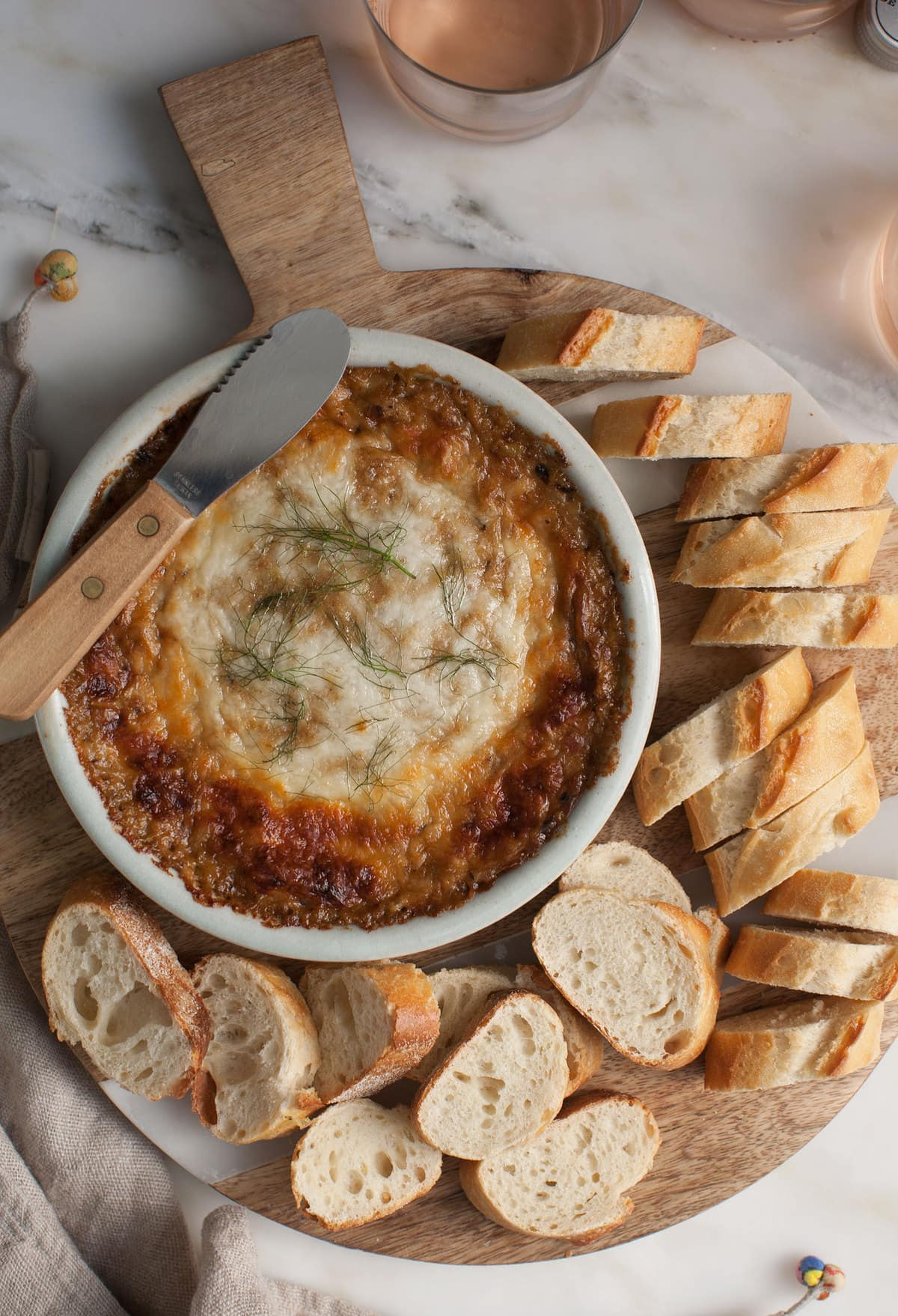 Warm Caramelized Fennel and Leek Cheese Dip