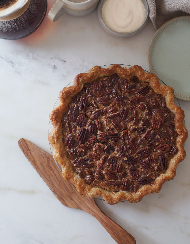 Black-Bottomed Pecan Pie (No Corn Syrup!)