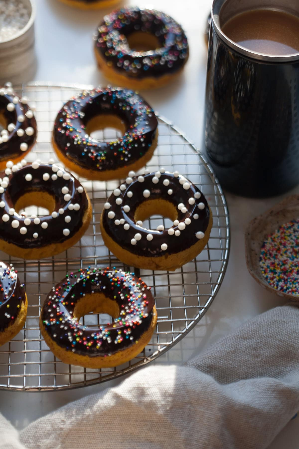 Pumpkin Chocolate Doughnuts