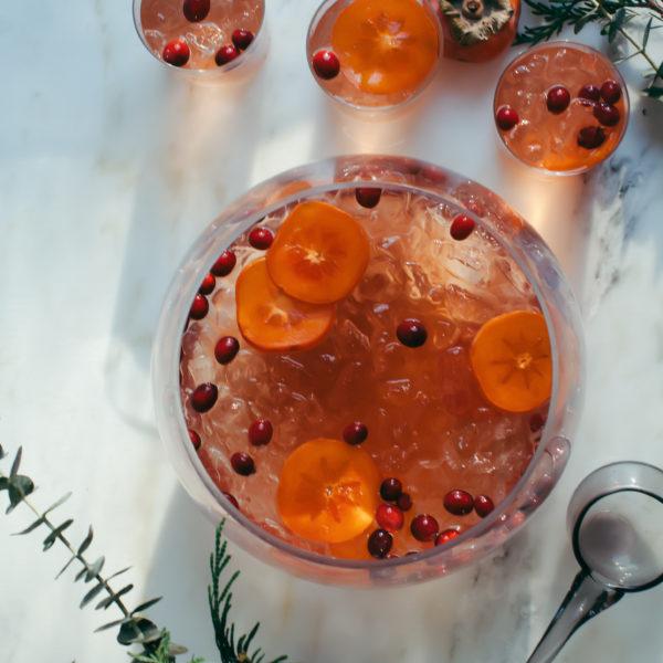 Sparkling Kitchen: Sparkling Rosé & Ginger & Elderflower Punch