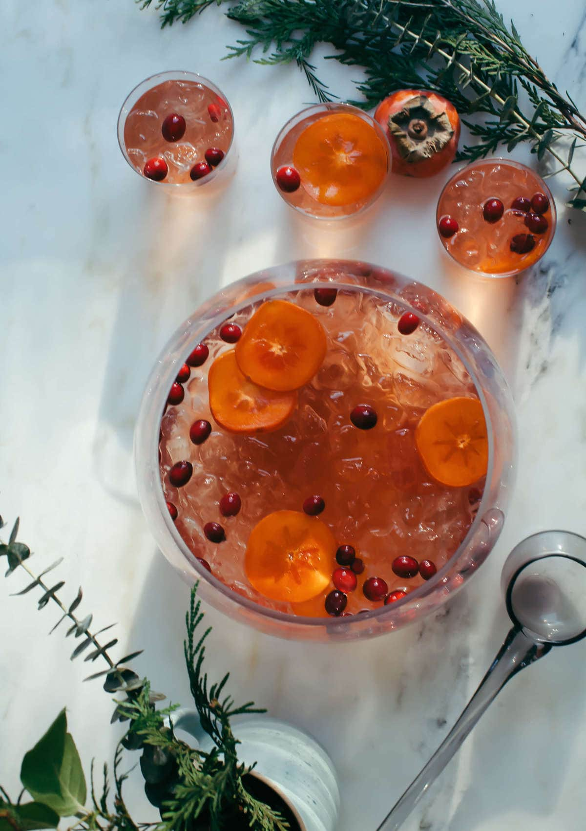 Rosé Ginger and Elderflower Punch