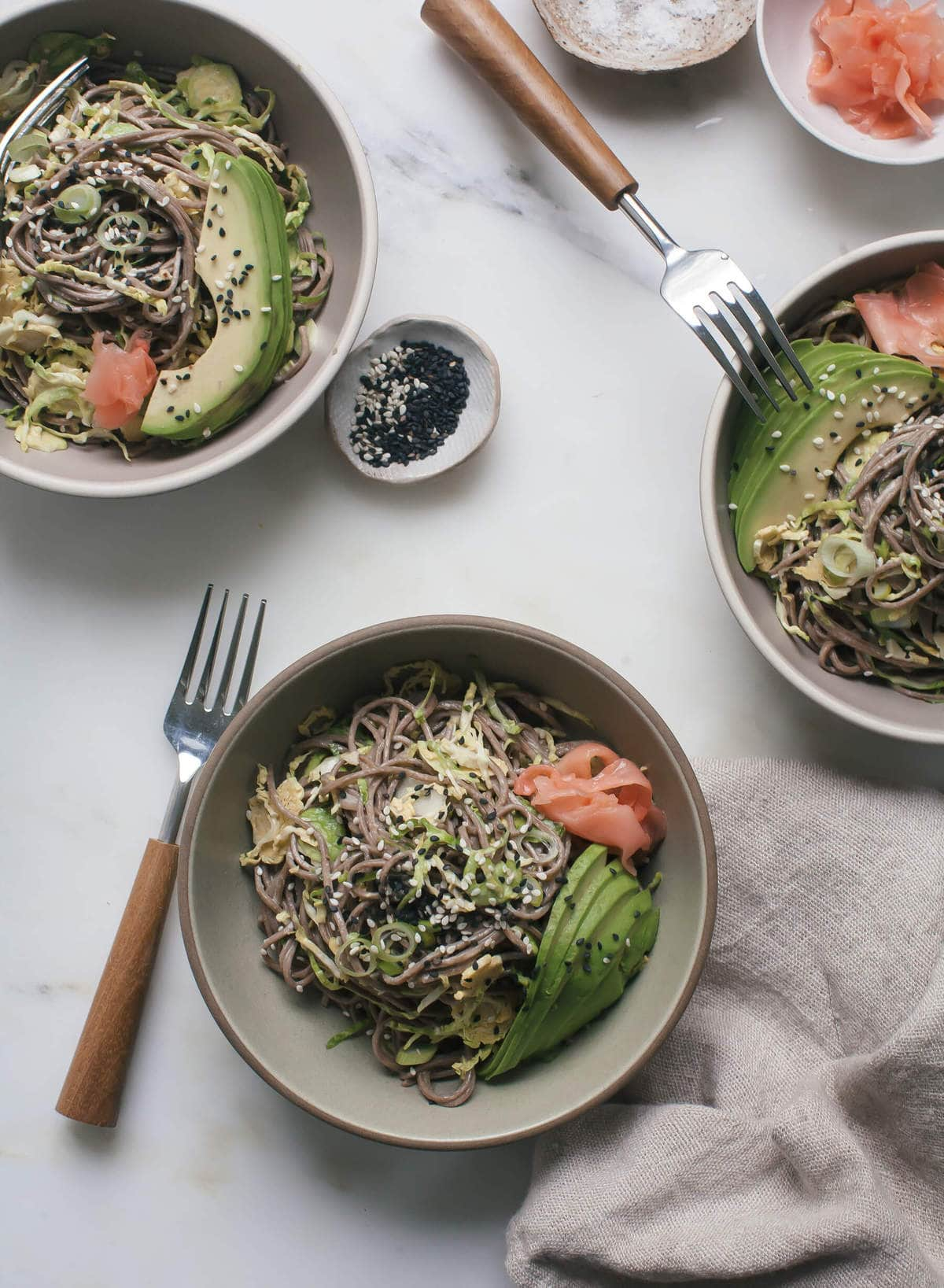 Soba Noodle Bowl with Miso-Tahini Dressing